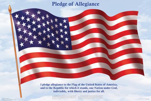 Pledge of Allegiance Educational Poster 36x24