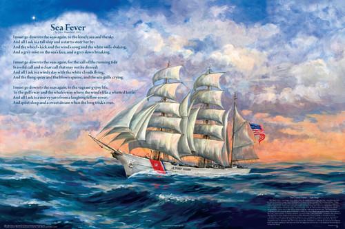 Sea Fevre (Poem) Educational Poster 36x24