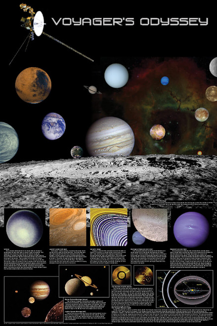 Voyager's Odyssey Educational Poster 24x36