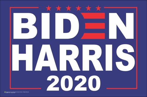 Biden Harris 2020 Poster - 17x11