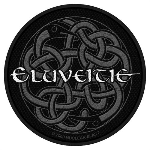 """Eluveitie Celtic Knot - Woven Sew On Patch 3.75"""" Round Image"""