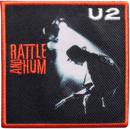 """U2 Rattle and Hum - Iron On Embroidered Patch 3"""" x 3"""""""
