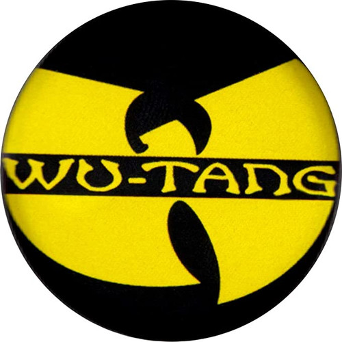 "Wu-Tang Clan - Yellow Logo Pin-Back Button - 1.25"" Round"
