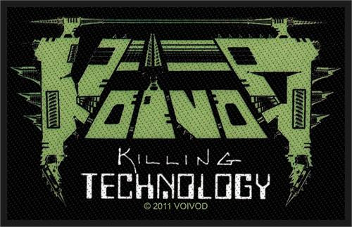"""Voivod Killing Technology - Woven Sew On Patch 4"""" x 2.5"""" Image"""