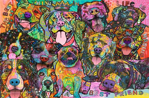 "Best Friend by Dean Russo Mini Poster - 17"" x 11"""