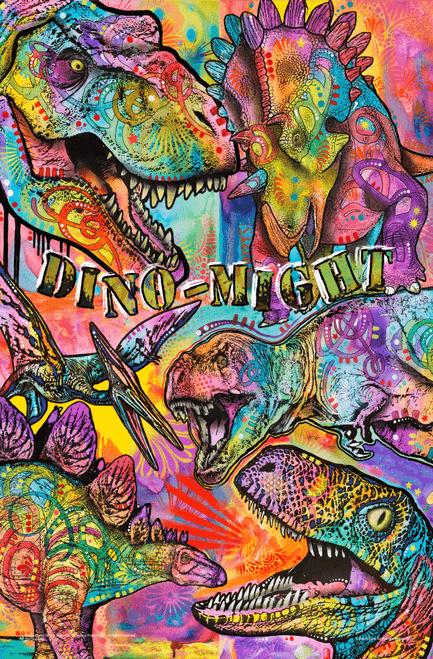 """Dino Mite by Dean Russo Mini Poster - 11"""" x 17"""""""