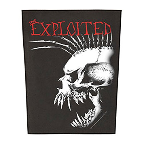 "The Exploited Bastard Skull - Woven Back Patch 11.25"" x 14"" Image"