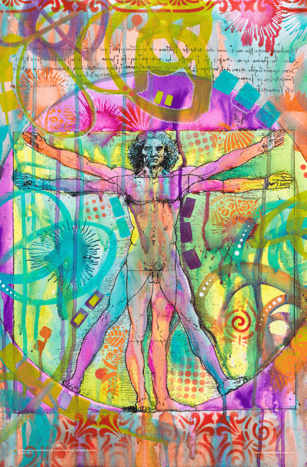 "Vitruvian Man by Dean Russo Poster - 11"" x 17"""