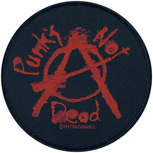 """Punk's Not Dead - Woven Sew On Patch 4"""" Round Image"""