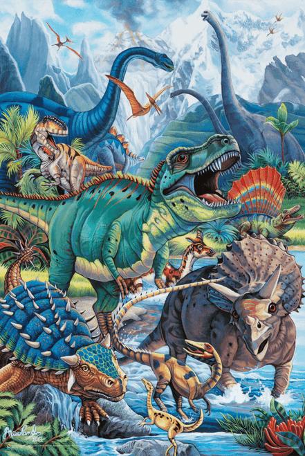 """Dinos by Jenny Newland Poster - 24"""" x 36"""""""