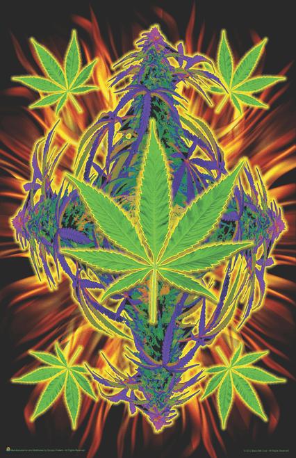 "Flaming Leaf Mini Poster- 11"" x 17"""