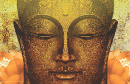 "Buddha Gold Face Mini Poster- 17"" x 11"""