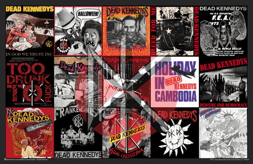 "Dead Kennedys Album Covers Collage Mini Poster- 17"" x 11"""