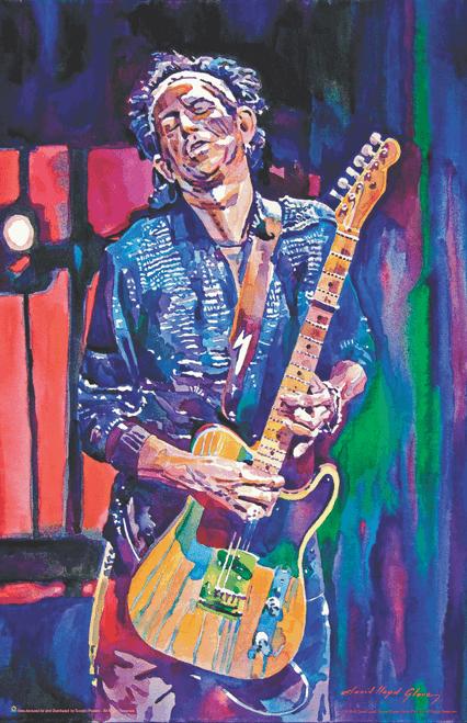 "Keith Richards by: David Lloyd Glover Mini Poster- 11"" x 17"""