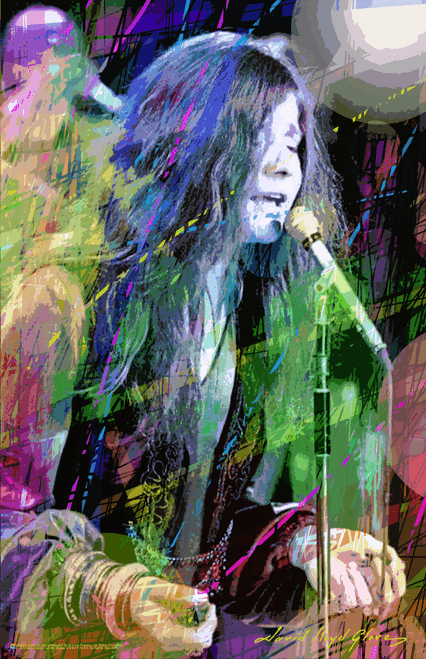 "Janis Joplin by: David Lloyd Glover Mini Poster- 11"" x 17"""