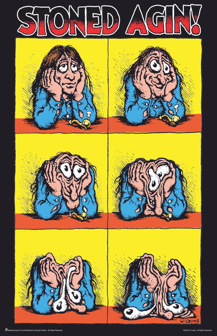"Stoned Agin! by R. Crumb Mini Poster- 11"" x 17"""