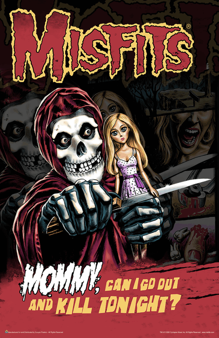 "Misfits - Mommy, Can I Go Out And Kill Tonight? Music Mini Poster- 11"" x 17"""