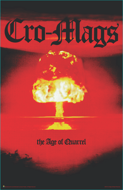 "Cro-Mags The Age of Quarrel Music Mini Poster- 11"" x 17"""