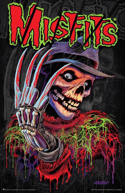 """Misfits Nightmare Fiend Skeleton Music Mini Poster- 11"""" x 17"""""""
