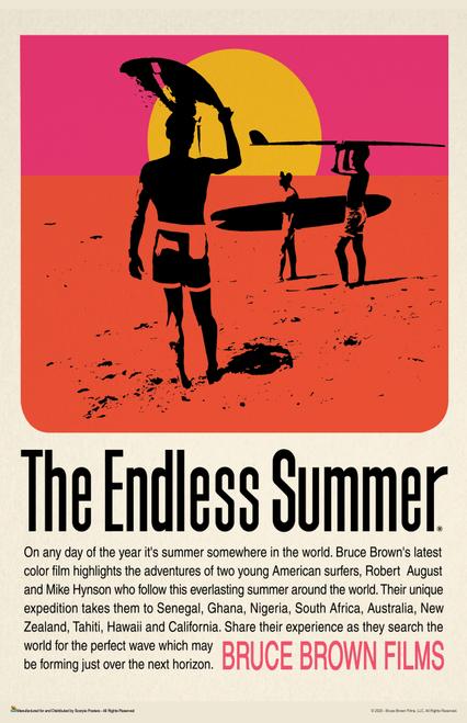 "The Endless Summer Retro Movie Mini Poster- 11"" x 17"""