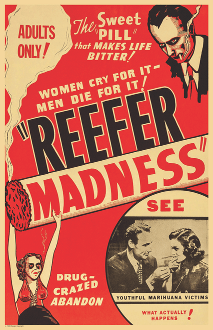 "Reefer Madness Movie Mini Poster- 11"" x 17"""