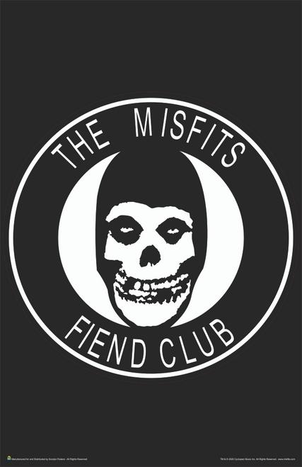 """The Misfits Fiend Club Music Mini Poster- 11"""" x 17"""""""