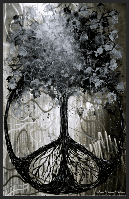"Tree of Peace by David Wolcott Wilhelm Mini Poster- 11"" x 17"""