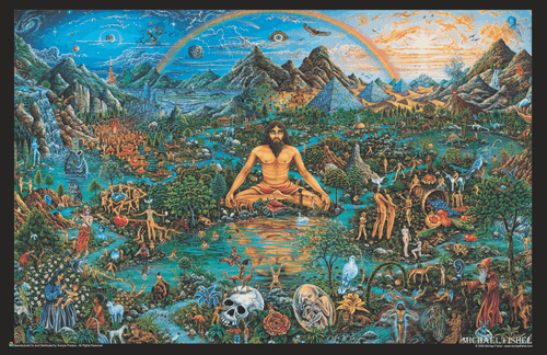 "The Creator by Micheal Fishel Mini Poster- 17"" x 11"""