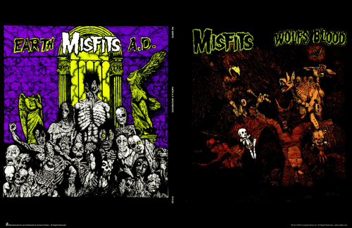 "Misfits Eearth A.D./Wolfs Blood Front & Back Album Covers Mini Poster- 17"" x 11"""