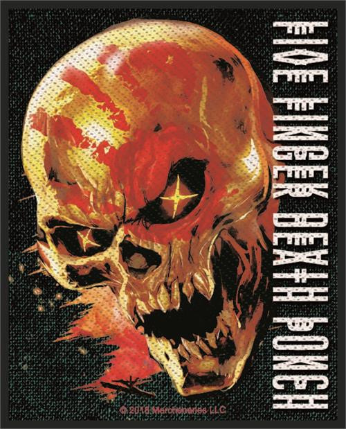 """Five Finger Death Punch Justice For None - Woven Sew On Patch 3"""" x 4"""" Image"""