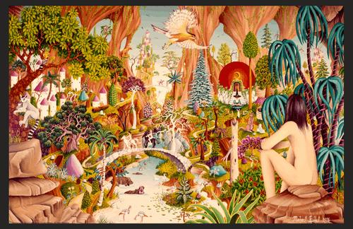 "Tuetopolis by Micheal Fishel Mini Poster- 17"" x 11"""