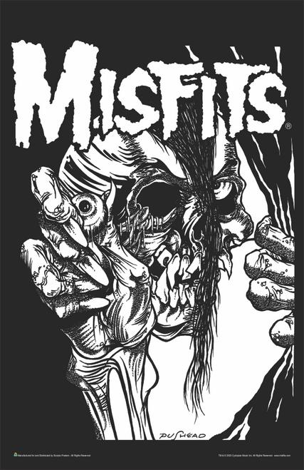 """Misfits - Pushead Music Mini Poster- 11"""" x 17"""""""