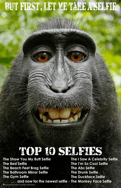 """Monkey - First Let Me Take A Selfie Mini Poster- 11"""" x 17"""""""