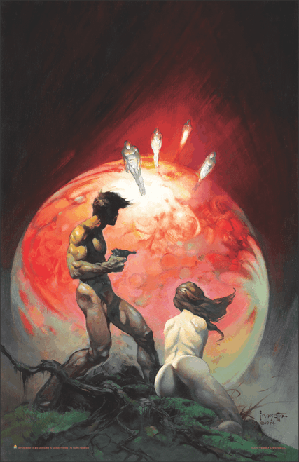 """Red Planet by Frank Frazetta Science Fiction Mini Poster- 11"""" x 17"""""""