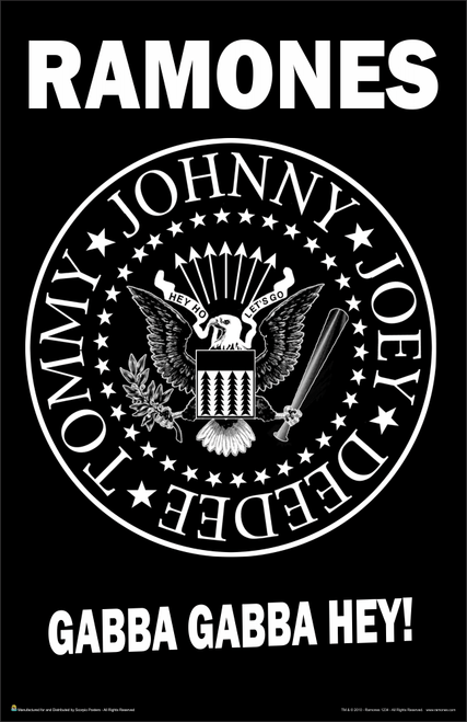 "Ramones Gabba Gabba Hey Music Mini Poster- 11"" x 17"""