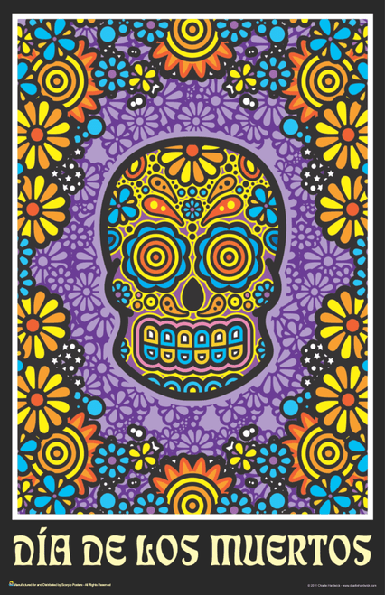 "Day Of The Dead By Charlie Hardwick Mini Poster- 11"" x 17"""