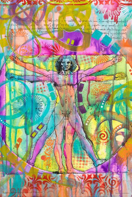 "Vitruvian Man by Dean Russo Poster - 24"" x 36"""