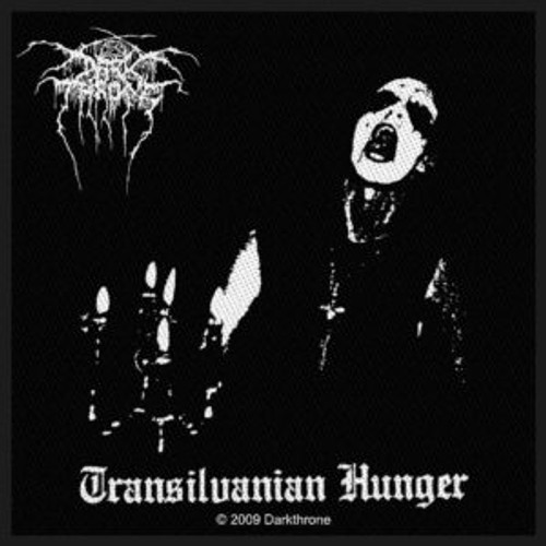 """Darkthrone Transilvanian Hunger - Woven Sew On Patch 4"""" x 4"""" Image"""
