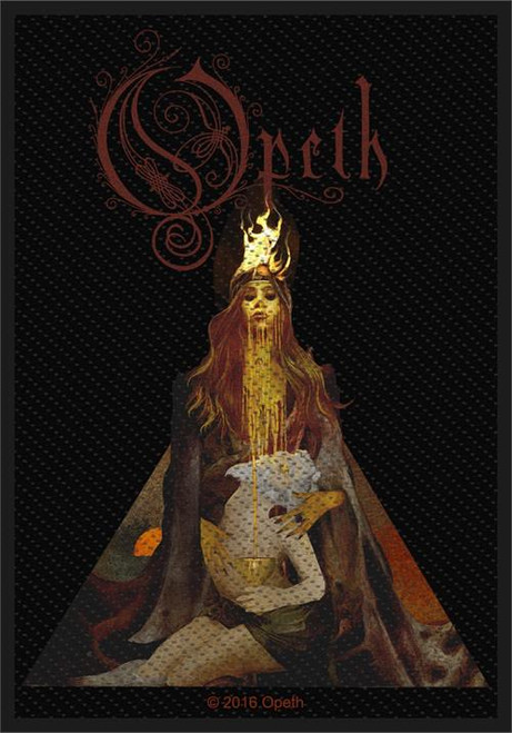 """Opeth Sorceress Persephone - Woven Sew On Patch 3"""" x 4"""" Image"""