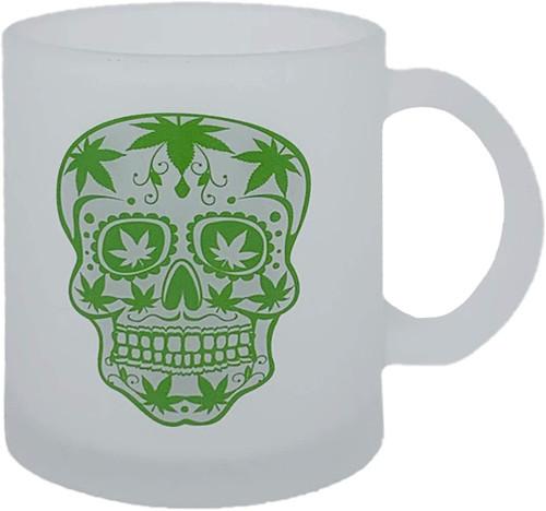 Metallic Glass Coffee Mugs 16oz (Clear)