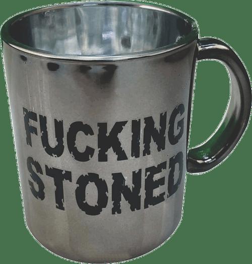 Metallic Glass Coffee Mugs 16oz (Grey)