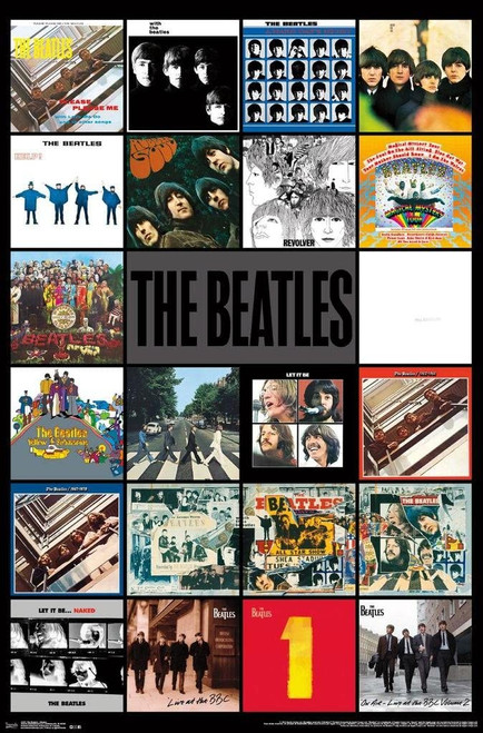 The Beatles - Album Covers Poster 24x36