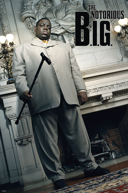 """Notorious B.I.G. Cane Poster - 24""""x36"""""""