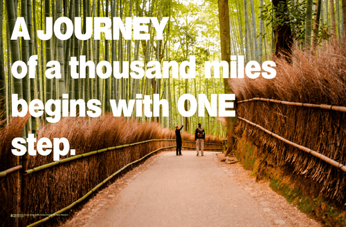Journey of a Thousand Miles - Bamboo Forest Mini Poster - 17x11