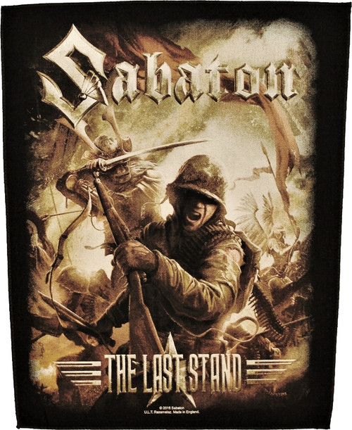 Sabaton 'The Last Stand' Back Patch
