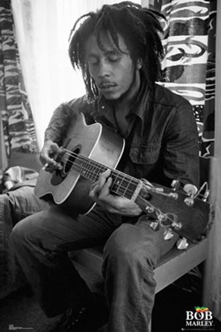"Bob Marley Guitar Poster - 24"" X 36"""