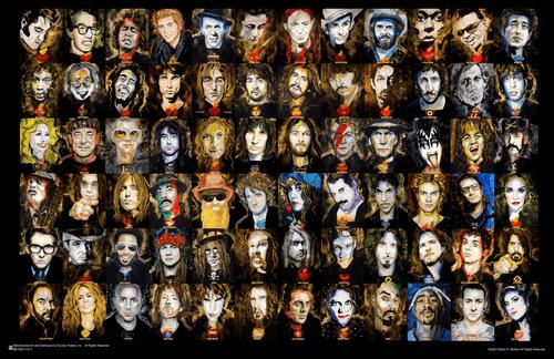 """Music Legends by William K Stidman Mini Poster 17"""" x 11"""""""