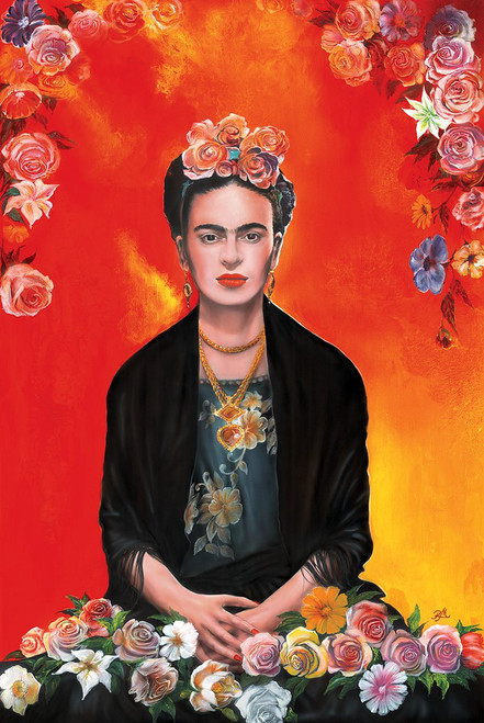 "Frida Kahlo by Magrini Poster - 24"" x 36"""