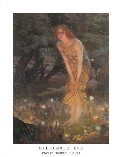 "Midsummer Eve by Edward Robert Hughes Mini Poster - 11"" x 14"""