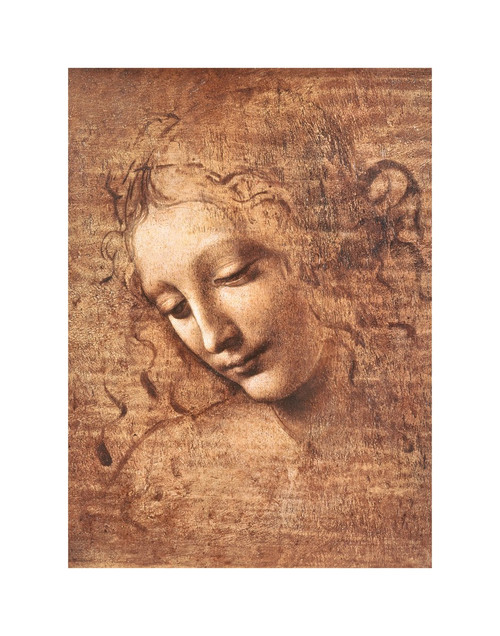 "La Scapigliata (Female Head) by Da Vinci Mini Poster - 11"" x 14"""